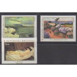 Croatie - 1996 - No 373/375 - Peinture
