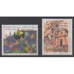 Croatie - 1997 - No 387/388 - Littérature - Europa