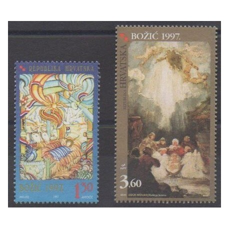 Croatia - 1997 - Nb 416/417 - Christmas