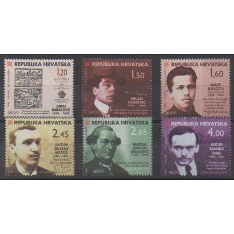 Croatia - 1998 - Nb 434/439 - Literature
