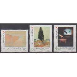 Croatie - 1998 - No 463/465 - Peinture