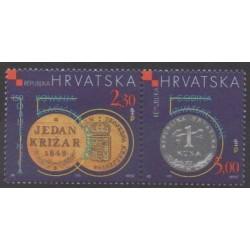 Croatie - 1999 - No 474/475 - Monnaies, billets ou médailles