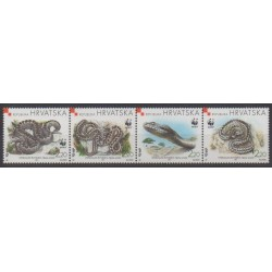 Croatia - 1999 - Nb 470/473 - Reptils - Endangered species - WWF