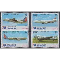 Cuba - 1999 - No 3834/3837 - Avions