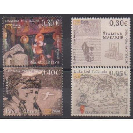 Montenegro - 2012 - Nb 314/317 - Various Historics Themes