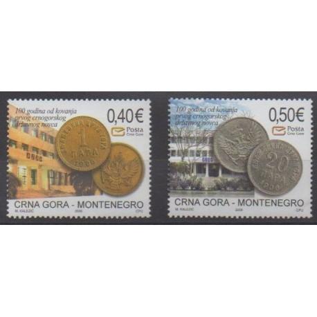 Monténégro - 2006 - No 128/129 - Monnaies, billets ou médailles