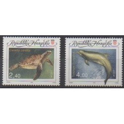 Croatia - 1995 - Nb 303/304 - Sea life