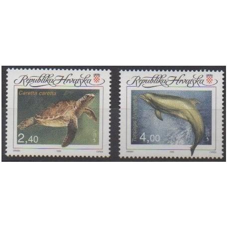 Croatie - 1995 - No 303/304 - Vie marine