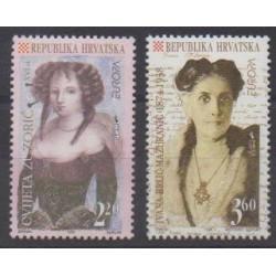 Croatia - 1996 - Nb 346/347 - Celebrities - Europa