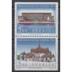Suède - 2002 - No 2294/2295 - Monuments