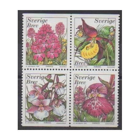 Sweden - 1999 - Nb 2096/2099 - Orchids