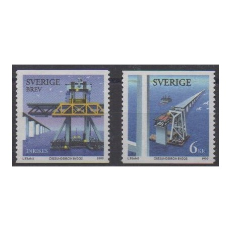 Sweden - 1999 - Nb 2094/2095 - Bridges