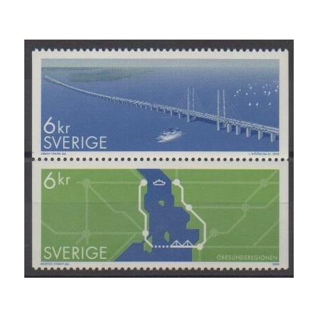 Suède - 2000 - No 2159/2160 - Ponts