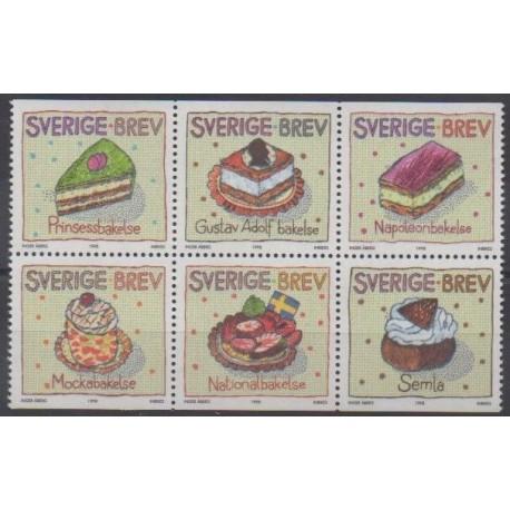 Suède - 1998 - No 2046/2051 - Gastronomie