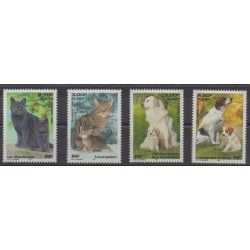 France - Poste - 1999 - No 3283/3286 - Chiens - Chats