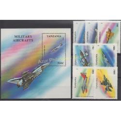 Tanzania - 1994 - Nb 1456/1462 - BF 223 - Planes