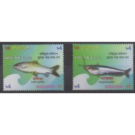 Bangladesh - 2002 - No 712/713 - Vie marine