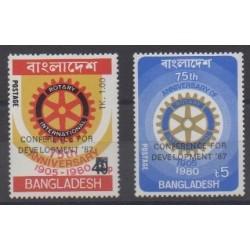 Bangladesh - 1987 - No 244/245 - Rotary ou Lions club