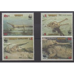 Bangladesh - 1990 - Nb 300/303 - Reptils - Endangered species - WWF