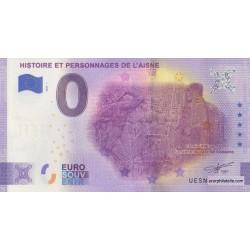 Euro banknote memory - 02 - Histoire et personnages de l'Aisne - 2020-1 - Anniversary