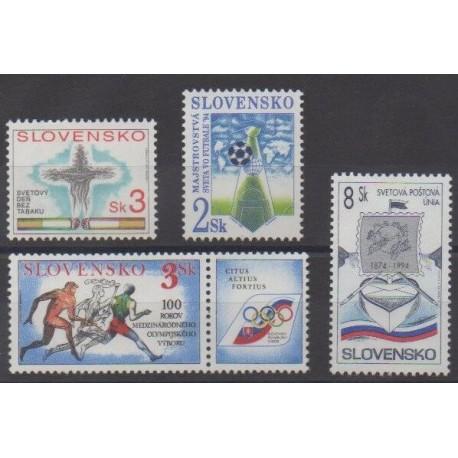 Slovakia - 1994 - Nb 157/160
