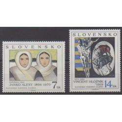 Slovaquie - 1994 - No 175/176 - Peinture