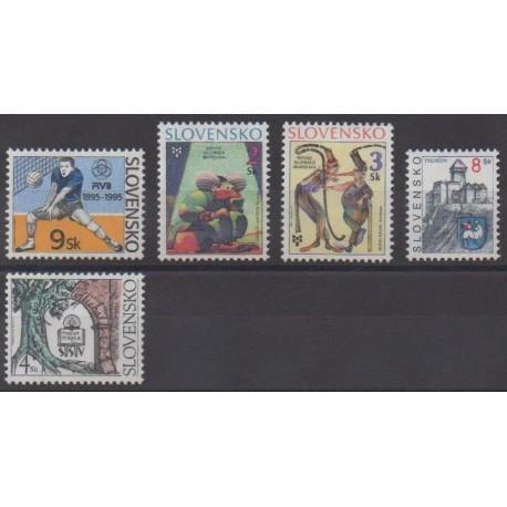 Slovakia - 1995 - Nb 197/201