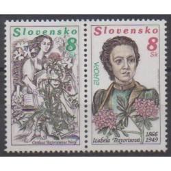 Slovaquie - 1996 - No 211/212 - Célébrités - Europa