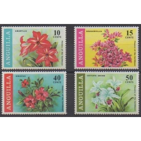 Anguilla - 1969 - Nb 39/42 - Flowers