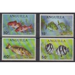 Anguilla - 1969 - No 52/55 - Vie marine