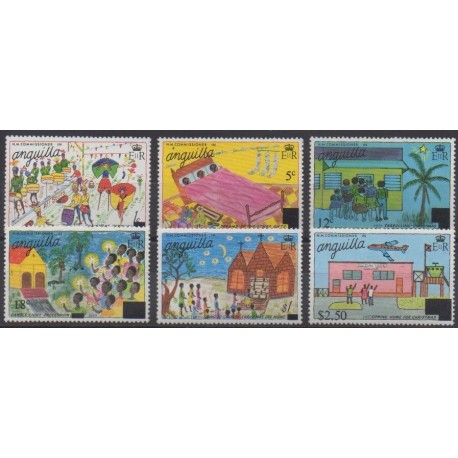 Anguilla - 1976 - Nb 232/237 - Christmas - Children's drawings