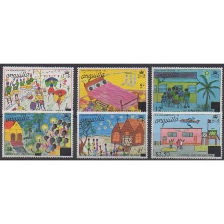 Anguilla - 1976 - No 232/237 - Noël - Dessins d'enfants