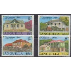 Anguilla - 1989 - No 738/741 - Architecture - Noël