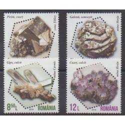 Roumanie - 2018 - No 6320/6323 - Minéraux - Pierres précieuses