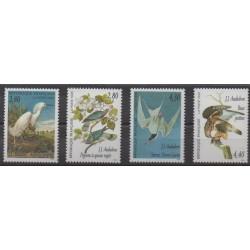 France - Poste - 1995 - No 2929/2932 - Oiseaux - Peinture
