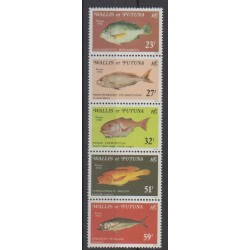 Wallis et Futuna - 1980 - No 259/263 - Vie marine