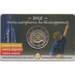 Belgique - 2015 - Coincard : Année européenne pour le développement