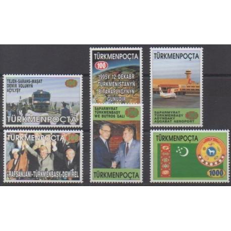 Turkmenistan - 1996 - Nb 54A/54F - Various Historics Themes