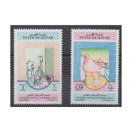 Qatar - 1995 - Nb 688/689 - Health