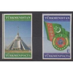 Turkmenistan - 2000 - Nb 154/155 - Flags