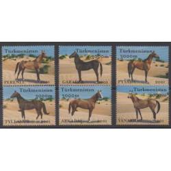 Turkmenistan - 2001 - Nb 156/161 - Horses