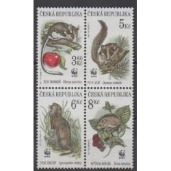 Tchèque (République) - 1996 - No 108/111 - Mammifères