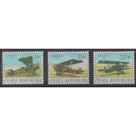Tchèque (République) - 1996 - No 124/126 - Aviation