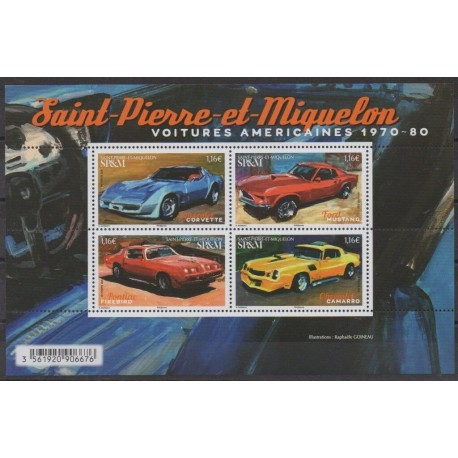 Saint-Pierre and Miquelon - Blocks and sheets - 2020 - Nb F1239 - Cars