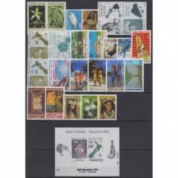 Polynésie - Année complète - 1990 - No 350/373 - BF17