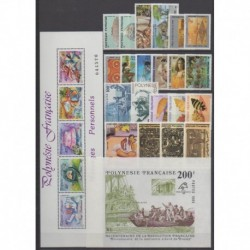 Polynésie - Année complète - 1989 - No 324/349 - BF15/BF16