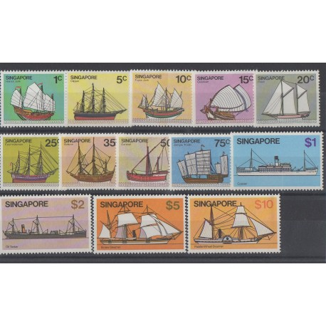 Singapour - 1980 - No 334/346 - Bateaux