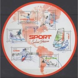 France - Blocks and sheets - 2020 - Nb F5418 - Various sports
