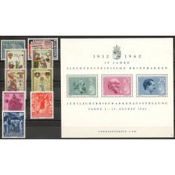 Liechtenstein - Année complète - 1962 - No 365/376 - BF 9