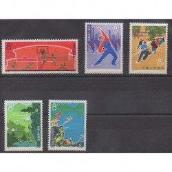 China - 1972 - Nb 1855/1859 - Various sports - Mint hinged